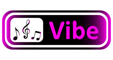 vibe: Long icon with a violet gradient and the inscription vibe