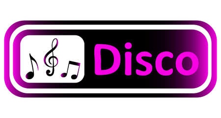 sounding: Long icon with a violet gradient and the inscription disco
