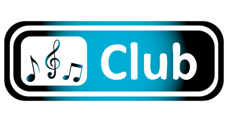 sounding: Long icon with a blue gradient and the inscription club