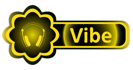 loudness: Double icon with a yellow gradient vibe earphones Illustration
