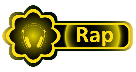 loudness: Double icon with a yellow gradient rap earphones