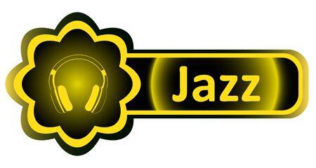 Double icon with a yellow gradient jazz earphones