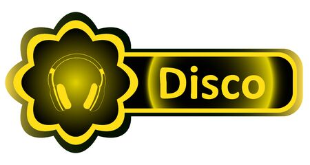 Double icon with a yellow gradient vibe earphones Illustration