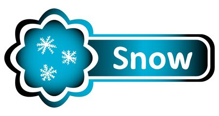 creatively: Double blue icon snowflakes and white inscription