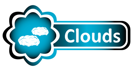 creatively: Double blue icon with the weather phenomenon and an inscription