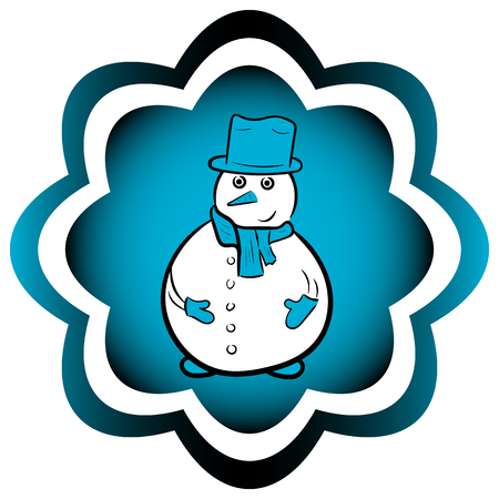 Illustration of a stylish snowman with a gradient