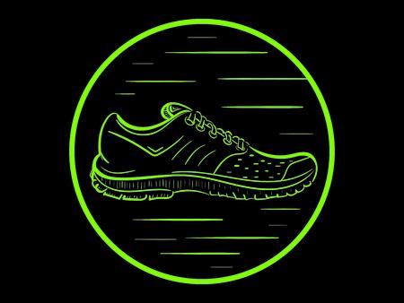 negligent: Sneaker in a circle