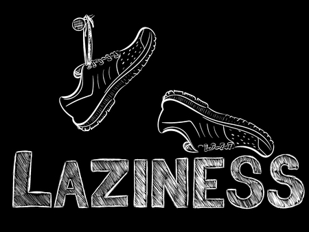 laziness: laziness and sneakers Illustration