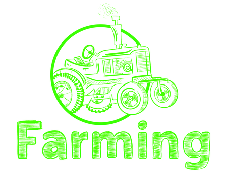 Green farming and tractor