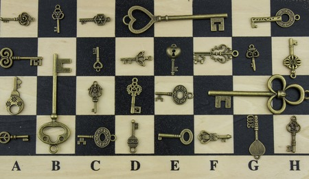 not open: Ancient keys and chessboard