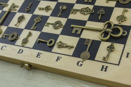 not open: Antiquarian keys on a chessboard