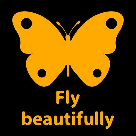 Beautifully with text fly beautifully