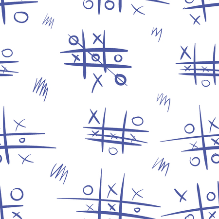 Seamless texture with a logical game a tic-tac-toe Stock Vector - 100412249