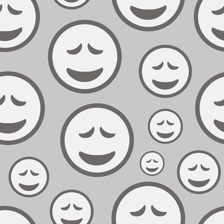 Seamless texture with amusing emotional grief smilies