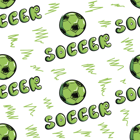 Seamless texture soccer and balls