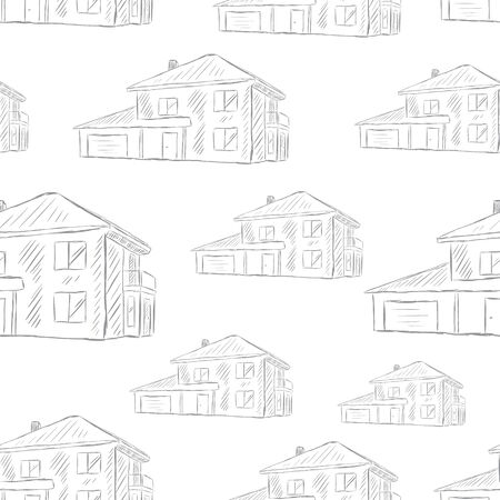 Seamless texture white two-storey houses