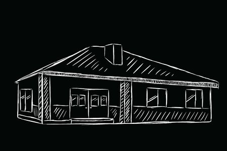 Sketch of the one-storey house