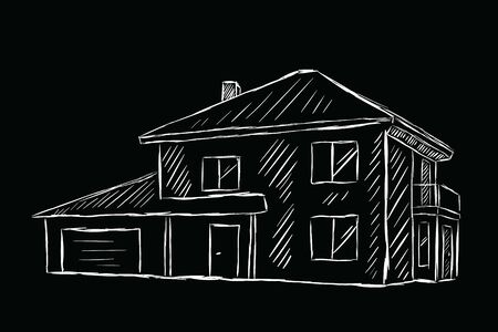 Sketch of the two-storeyed house