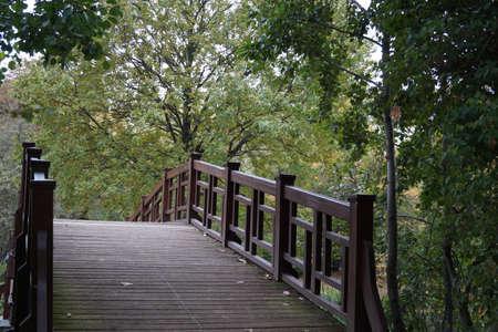 inward: Bridge in the park Stock Photo