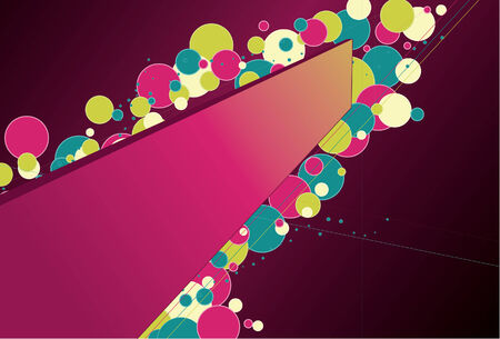 Frame in perspective covered with colorful circles. Frame shape and lines on one layer, circles are on another. Fill and outline on each circle are separate, very easy to change colors. Simple linear gradients used on frame and background. Stock Vector - 4664558