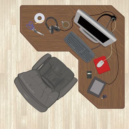 tarima madera: Todos los elementos se agrupan por separado en la misma capa a organizar o eliminar f�cilmente. Los pisos de madera y de escritorio se encuentran en sus propias capas. Gradientes lineales se utilizan en los pisos de madera dura y un par de los temas. Vectores