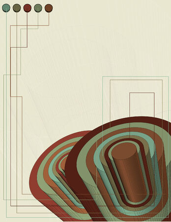 Top lines, main elements, background lines and background are all on separate layers. Vector