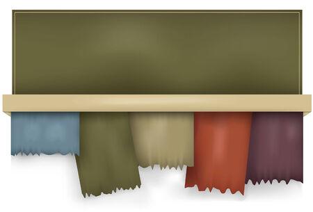 Opmerking: Gradient Mazen worden gebruikt. Dit is een set horizontaal uitgelijnd gescheurd tabbladen. Elk tabblad, achtergrond slagschaduw en top zijn alle elementen op afzonderlijke lagen. Kan gemakkelijk verwijderen slagschaduw en manipuleren of tabs dupliceren.