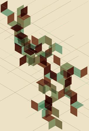 separato: linee, elementi geometrici e tutto su sfondo separare i livelli. Effetto trasparente � simulata.