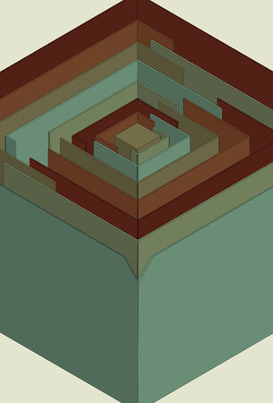 同じレイヤー上の主要な要素を一緒にグループ化されます。  イラスト・ベクター素材