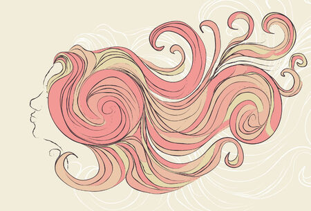 Konturen, Farben, Hintergrundelemente und das Gesicht sind alle auf separaten Ebenen. Einfach, Farben zu ändern.  Standard-Bild - 5674573