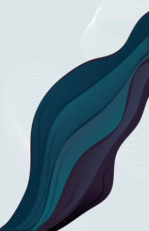 Abstract wave background. All items grouped on same layer. Easy to manipulate and change colors.  Vector
