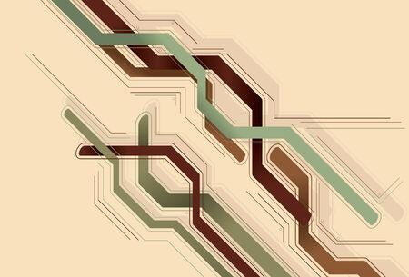 主線、背景、細い線および円は別のレイヤー上のすべて。単純な線形グラデーションが使用されます。