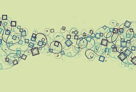 Spots, top pleinen, onder pleinen, dunne swirls en dikke swirls zijn allemaal op afzonderlijke lagen.  Stock Illustratie