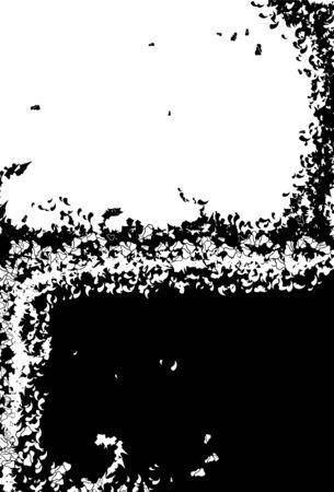 トップ黒グランジ、下半分の白グランジ個別のレイヤーがあります。主なグランジの部分は、1 つのオブジェクトです。  イラスト・ベクター素材