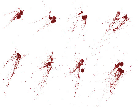 subtract: Each splatter grouping is on its own layer. Easily add or subtract portions, 4 shades of red used