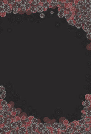 Front circles, background circles and background are all on separate layers. Each different type of circle is grouped together. Very easy to edit and manipulate. Cropped via clipping mask.