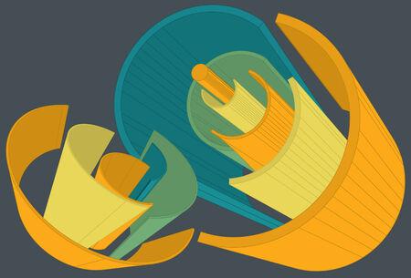 slanted: Elementos principales se encuentran en la misma capa, agrupado por separado. El fondo es en capa independiente.  Vectores