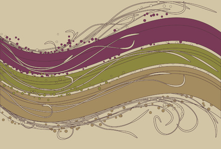 cropped: Different colored spots, inner swirls, outer swirls, thick background waves and background are all on separate layers. Ends of flourishes cropped via clipping mask.