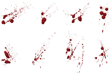 Questa non è una traccia dal vivo. Ogni raggruppamento splatter è mano ombreggiato e su un proprio livello. Facilmente aggiungere o sottrarre porzioni o modificare un colore unico.  Archivio Fotografico - 6141853