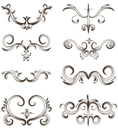 accents: Cada ornamento es en su propia capa. Cada agrupaci�n de contorno es una sola forma compuesta. Vectores