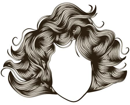 Gesicht und die Haare werden auf separaten Ebenen. Jede Haarsträhne ist einzelner-Objekt. Leicht Farben ändern oder Multi-colored zu machen. Standard-Bild - 6182710
