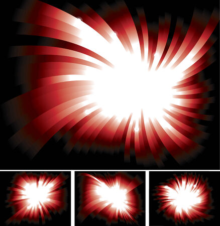 shinning: Bright Shinning Red Light Ray Background Collection Illustration