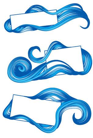 tide: Marcos de ediciones de mano con agua