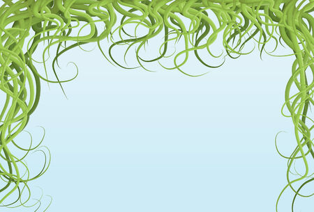 bordure de page: Main tir� illustr� bordure de page de vigne brouill� Illustration