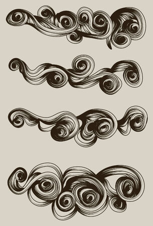 swirling: abstract hand drawn ornament collection