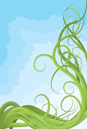 Hand drawn illustrated jumbled vine page border