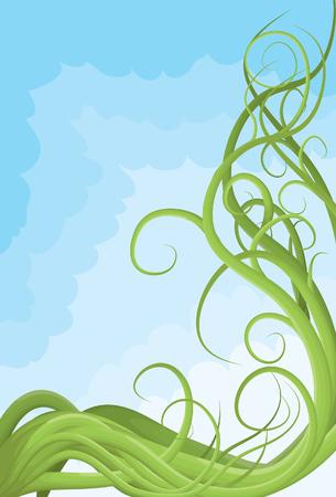 bordure de page: Main dessin�e illustr�e vigne brouill� page fronti�re Illustration