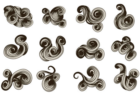hand knot: abstract hand drawn scroll shape collection