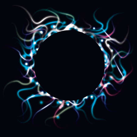 Blurry abstract circle background