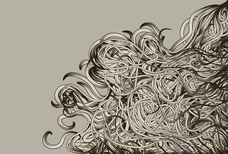 Hand Drawn jumbled messy background